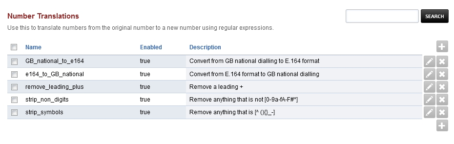 Number Translations — FusionPBX Docs documentation