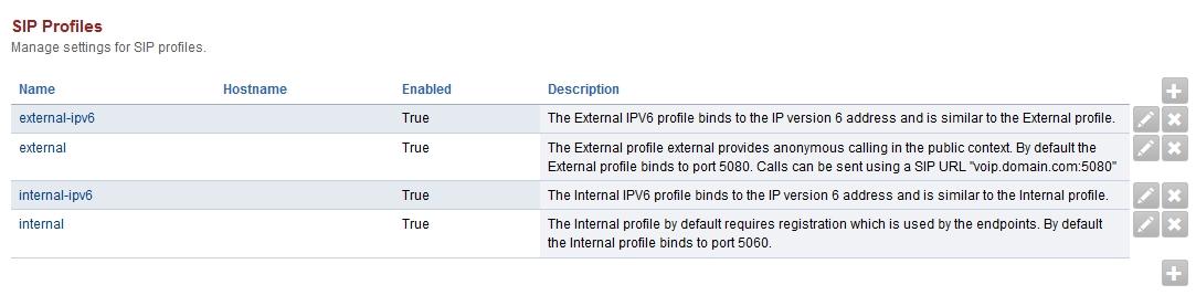 Sip Profiles — FusionPBX Docs documentation